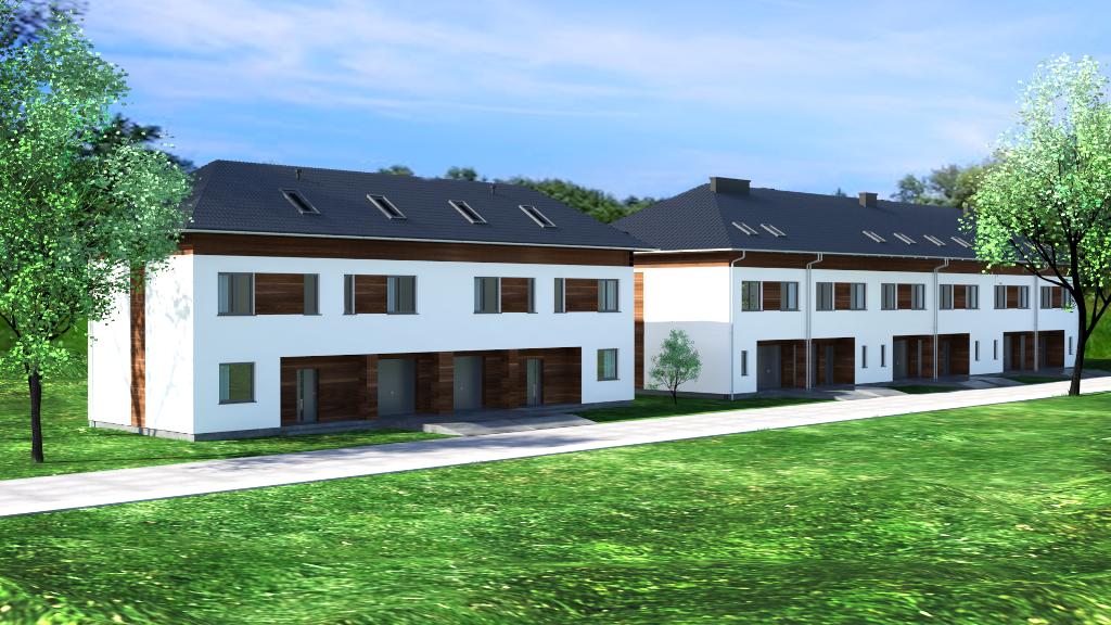 Segmenty posadowione na działkach o powierzchni od 147 m2 do 314 m2.