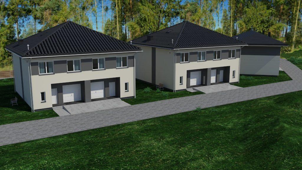 Na ul. Starych Dębów powstaje mini osiedle budynków jednorodzinnych w zabudowie bliźniaczej.